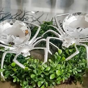 2x Shiny Spider Candy Bowls 4 Halloween Decor